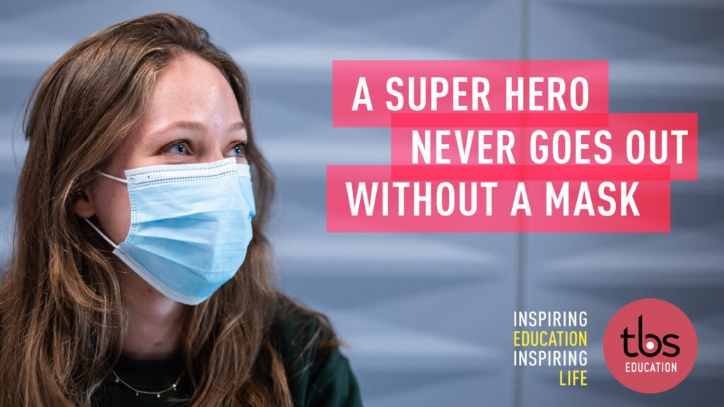 A Super Hero Never Goes Out Without A Mask