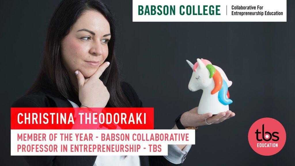 Christina Theodoraki Babson 2021 Member Of The Year