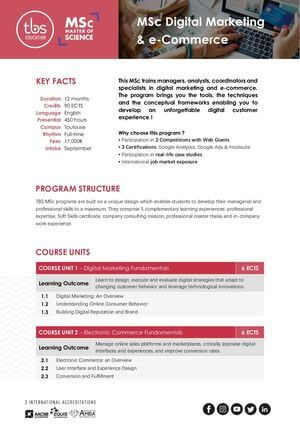 Tbs Education Msc Digital Marketing And E Commerce Program Outline