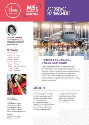 Tbs Msc Aerospace Management