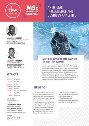 Tbs Msc Artificial Intelligence And Business Analytics